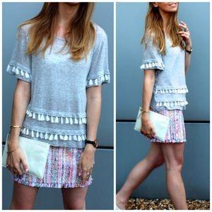 FREE Add on | H&M | grey tassel top | boho